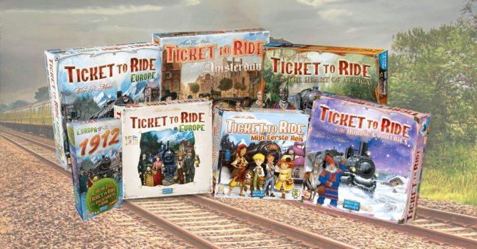 ticket to ride edities en uitbreidingen
